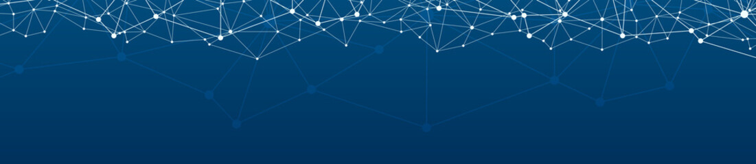 Blue Social Network Background Wall mural