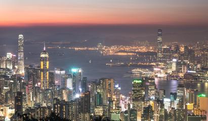 Stunning Hong Kong sunset