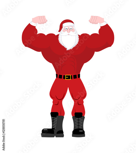 Quot santa claus strong powerful old man with big muscles