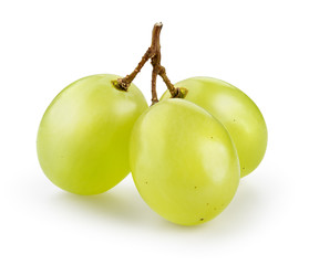 Fototapeta Green grape isolated on white. With clipping path.