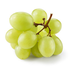 Fototapete - Green grape. Small branch isolated on white. With clipping path.