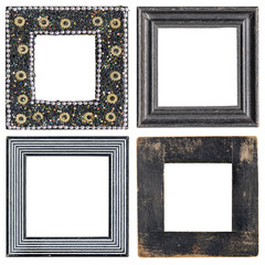set of four square picture frames
