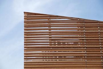 wooden facade modern perspective