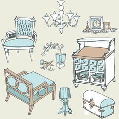 furniture decor provance1 color blue