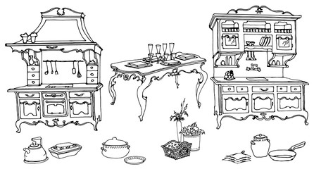 kitchen furniture in the old style 3
