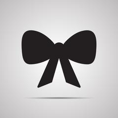 Векторная иллюстрация иконка простой символ плоский для веб bow праздничный бант бантик с лентами