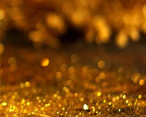 Bokeh background gold, silver