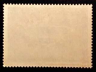 Vintage blank posted stamp reverse  side