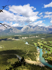 Mountain range view from Tunnel Mountain in Banff