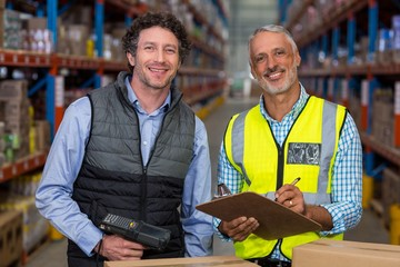 Portrait of managers are smiling and posing during work