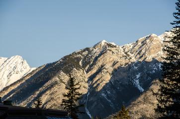mountain top in Banff
