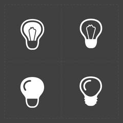 Light bulbs. Bulb icon set.