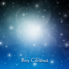 Christmas elegant card with snow