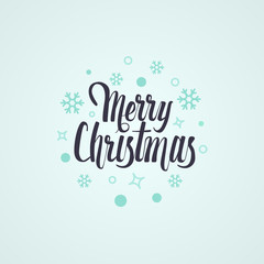 Merry Christmas vector text Calligraphic Lettering design card template. Stylish text for Flayers, Banners, Posters. Calligraphy Font style.