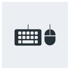 Mouse and keyboard icon