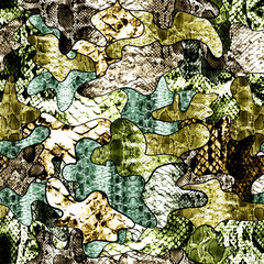 Camouflage pattern in green