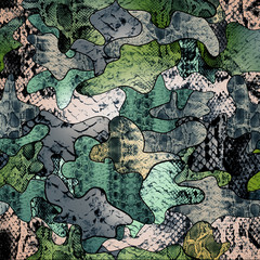 Camouflage pattern in green color
