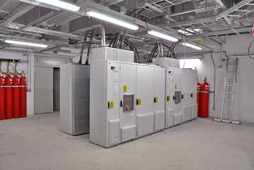 transformer and fire fighting room