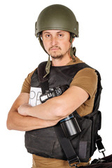 military press photographer with a professional camera.