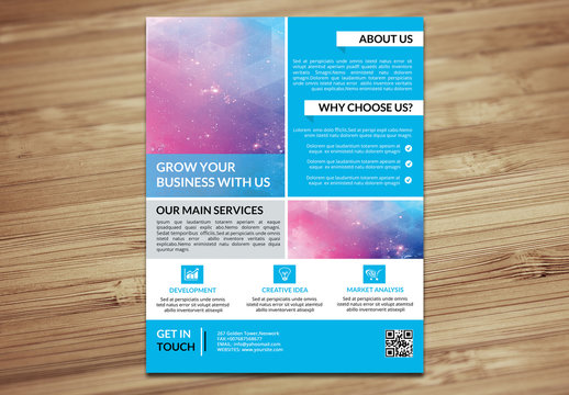 Corporate Flyer with Grid Style Layout