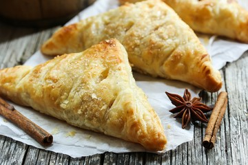 Homemade apple turnovers