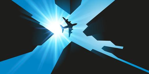 Avion - building - ville - voyage - tourisme