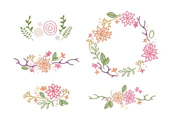Vector Decor with Flowers