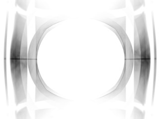 Retro cinema pattern with black-and-white oval frame