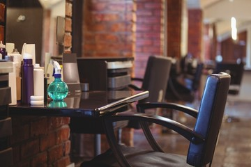 Hairdresser equipment in salon
