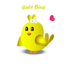 cute colorful bird