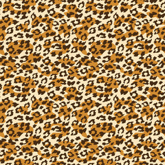 Leopard seamless background. Vector illustration.