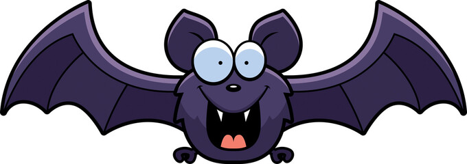 Cartoon Bat Smiling