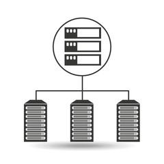 server data center connection graphic vector illustration eps 10