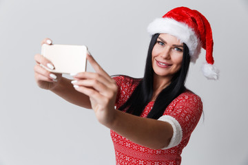 Woman photographed herself in Christmas