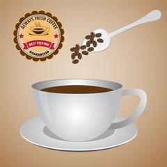 Nutural coffee in mug