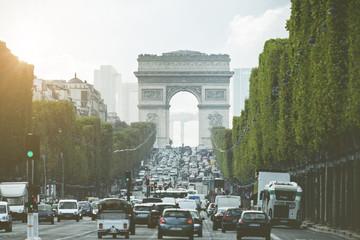 Evening light on Champs Elysees - Paris