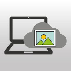 cloud computer connected picture vector illustration eps 10