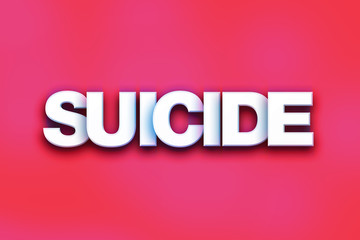 Suicide Concept Colorful Word Art