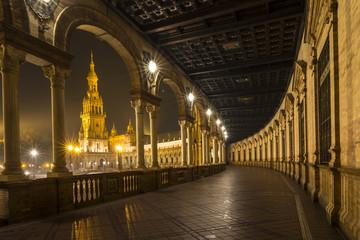 Architectural detail - plaza de espana Seville, Andalusia, Spain.