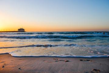 Warm sunset - Dubai beach