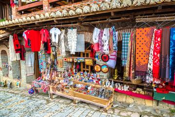 Street market in Kruja, Albania