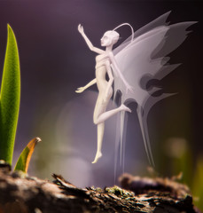 fantastic creature in the image of the fairies