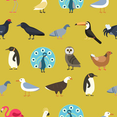 Vintage summer birds background.
