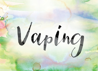 Vaping Colorful Watercolor and Ink Word Art