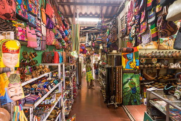 Masaya, Nicaragua – August 27, 2016: Artisan local tourist market from Masaya . The best place to buy souvenirs