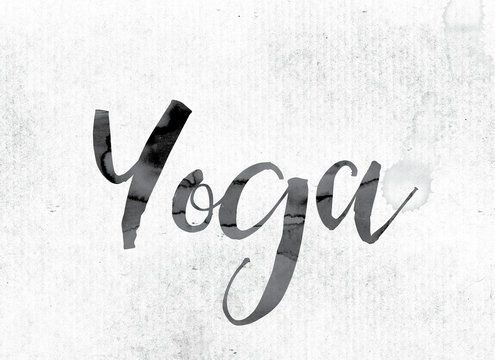 Yoga Concept Painted in Ink