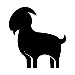 animal goat silhouette