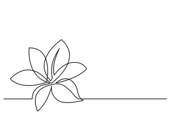 continuous line drawing of flower