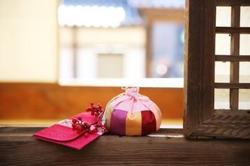 happy new year image of Korea,lucky bag,신년,복주머니,감사
