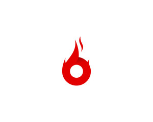 Fire Letter B Initial Logo Design Template